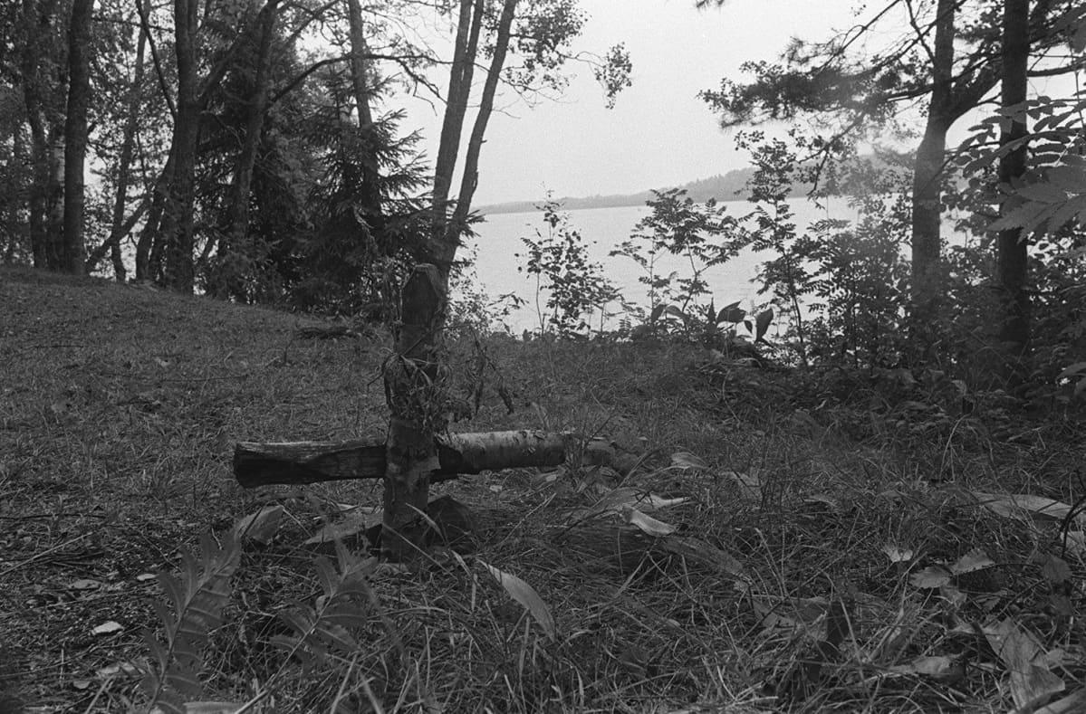 Bodominjärven surmapaikka vuonna 1970.