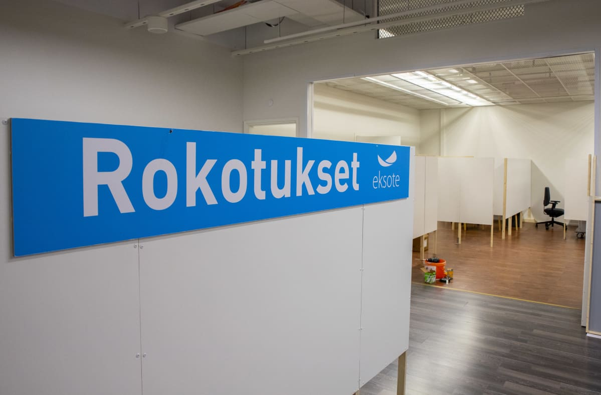 Eksoten rokotuspaikka kauppakeskus Isossa-Kristiinassa.