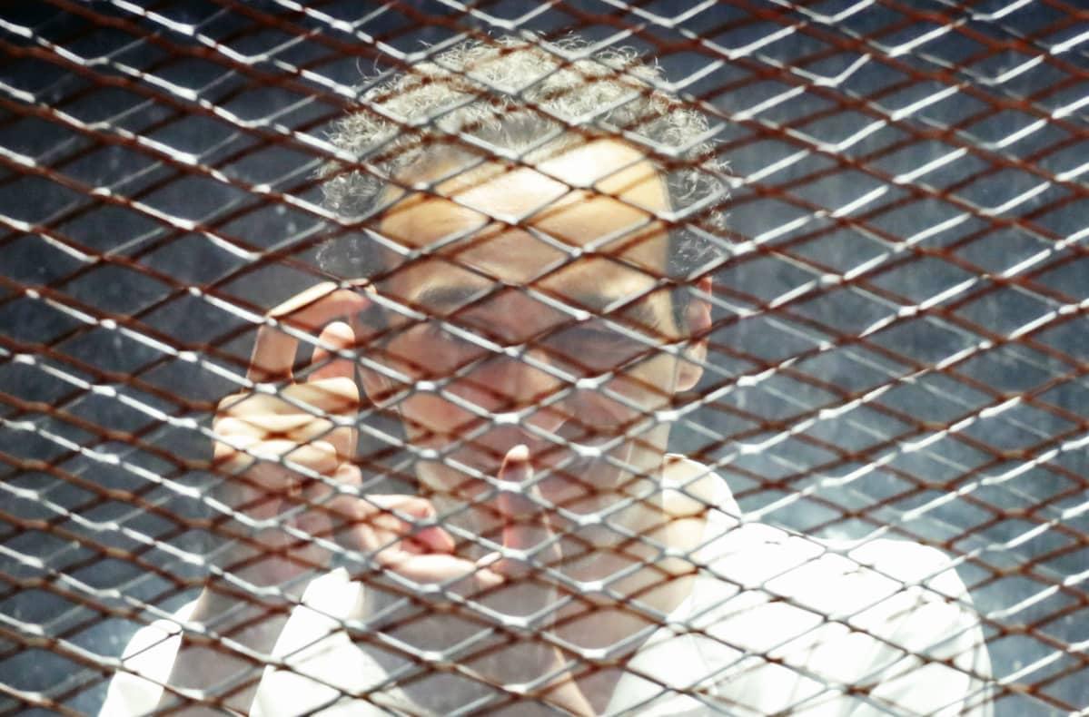 Vangittu egyptiläinen kuvajournalisti Mahmoud Abu Zeid.