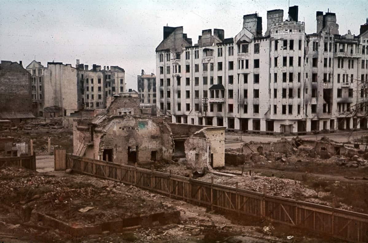 Pommituksissa reunioitunut talo Viipurissa