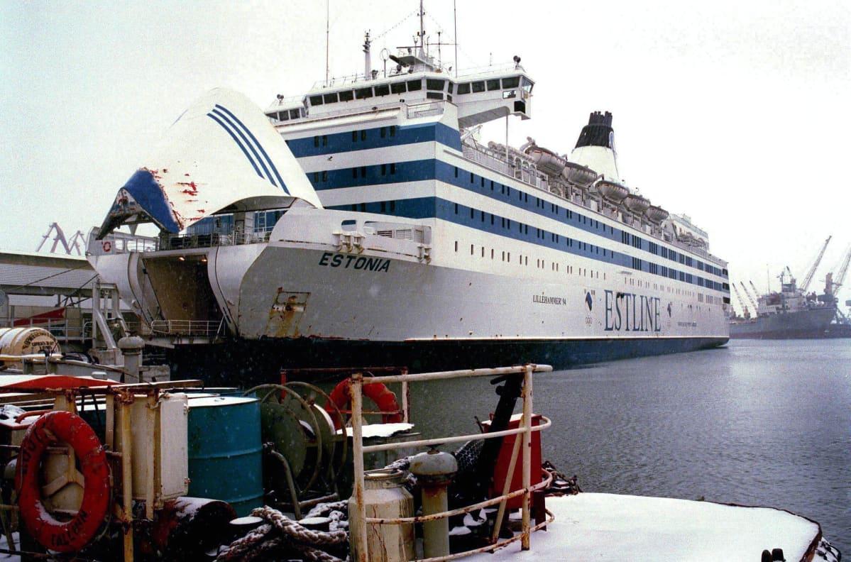 M/S Estonia Tallinnan satamassa.
