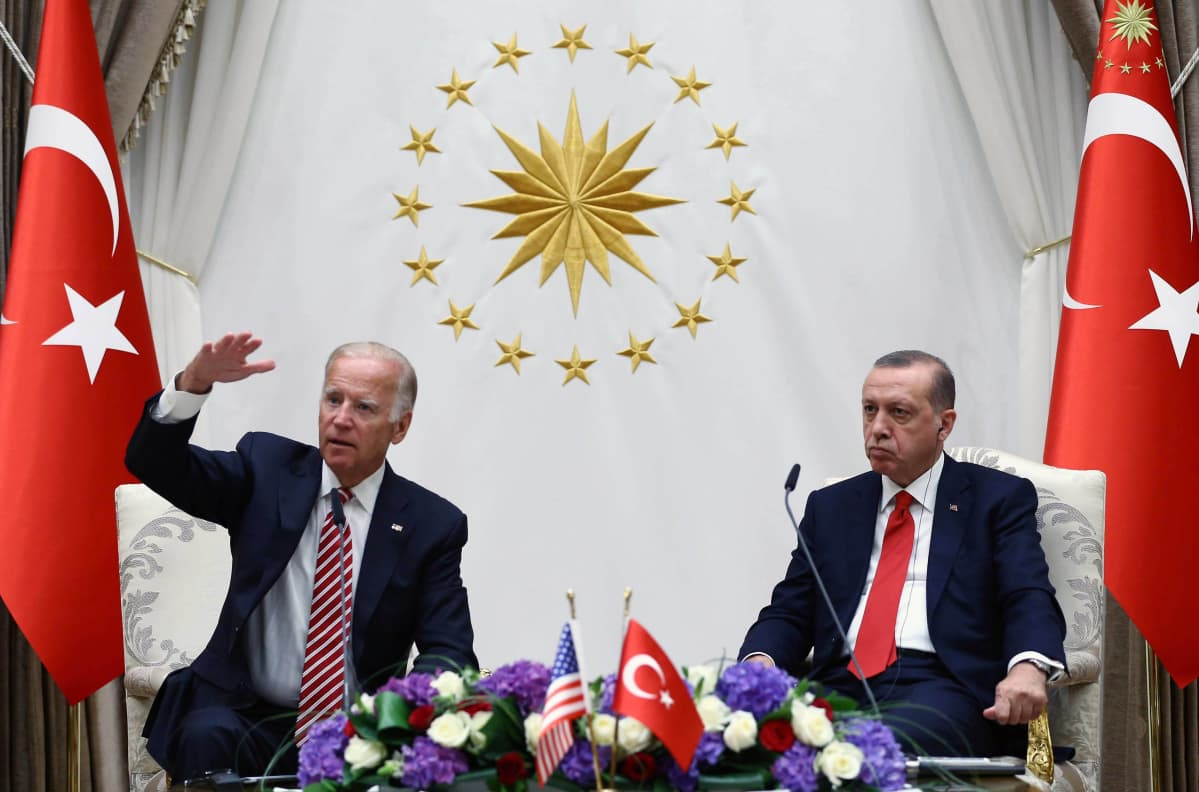 Varapresidentti Joe Biden ja Turkin presidentti Recep Tayyip Erdogan Ankarassa elokuussa 2016.