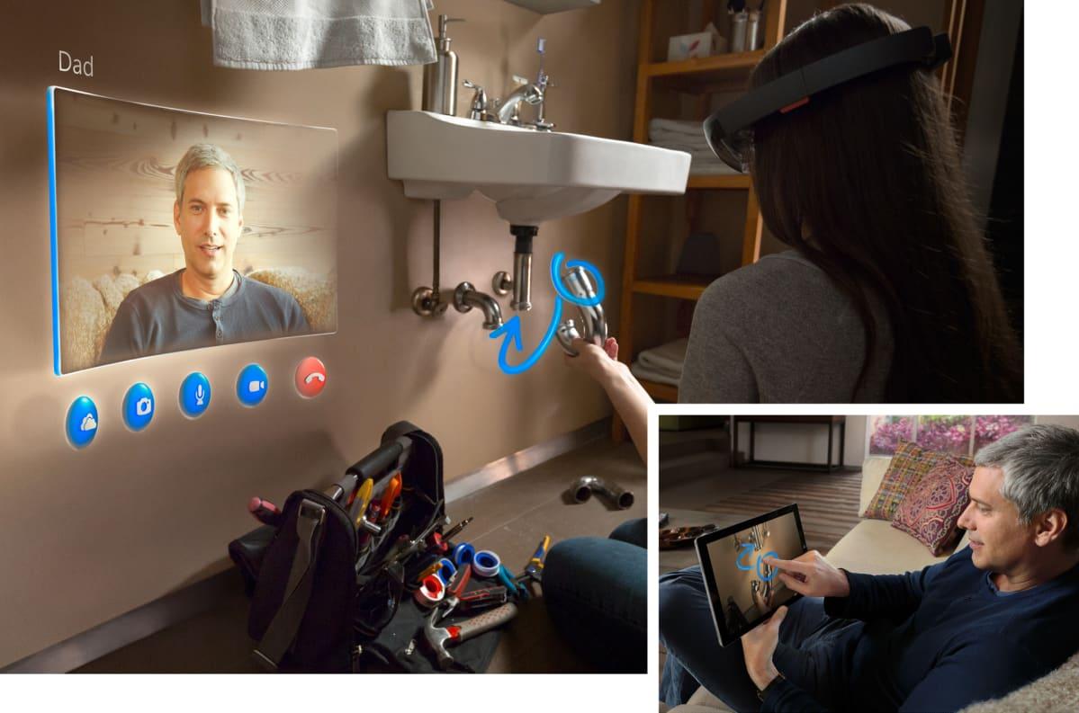 HoloLens -Skype.