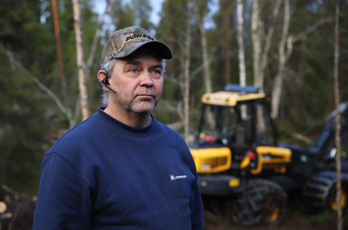 metsäkoneyrittäjä Jari Talus