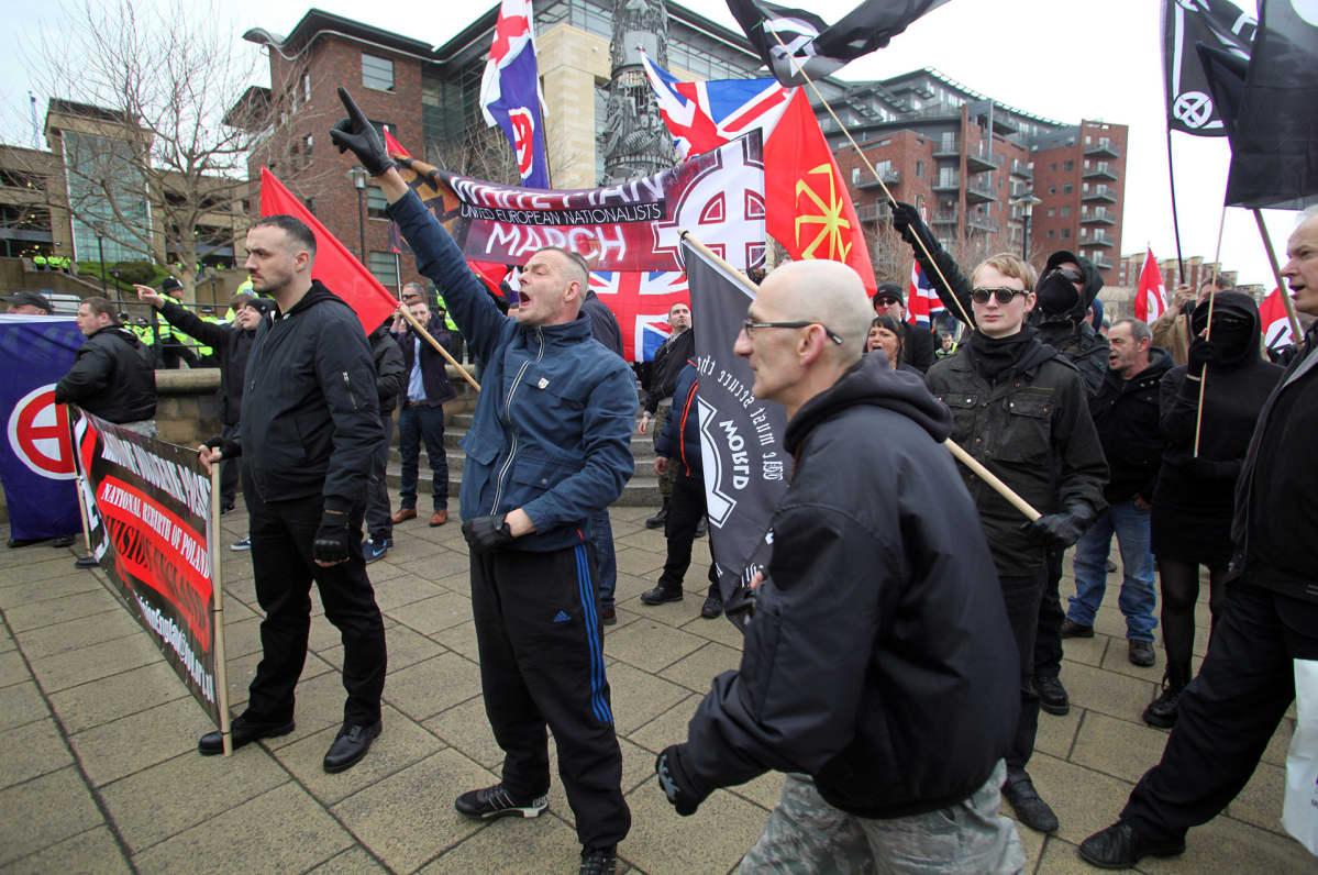 """White Man March"" Newcastlessa 2015."