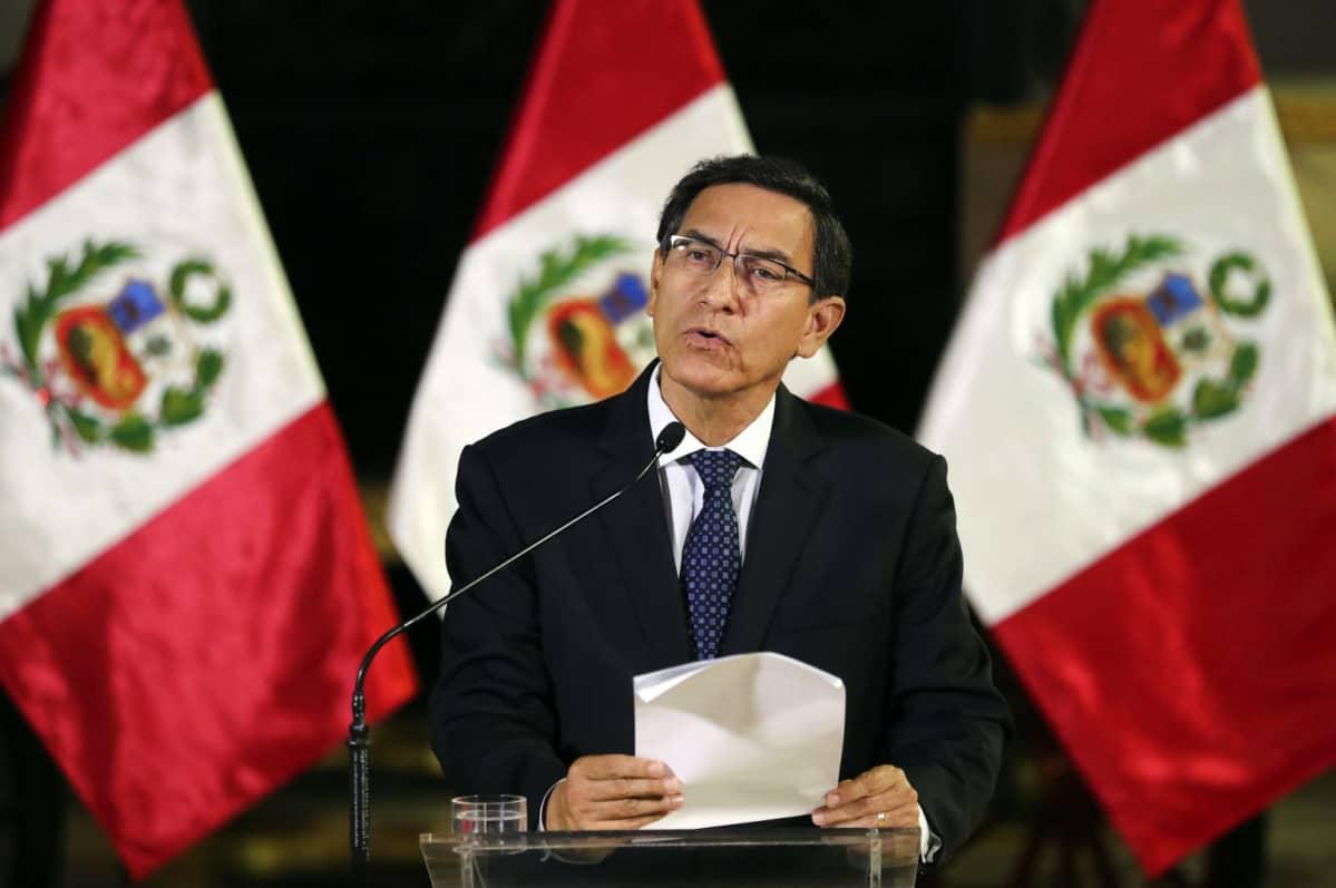 Perun presidentti Martin Vizcarra 30. syyskuuta.