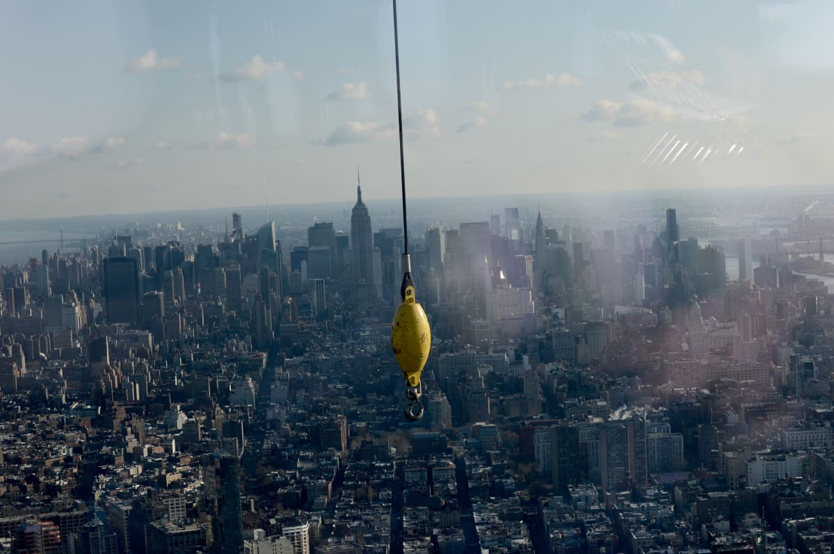 Näkymä uuden One World Trade Center -rakennuksen sadannesta kerroksesta.