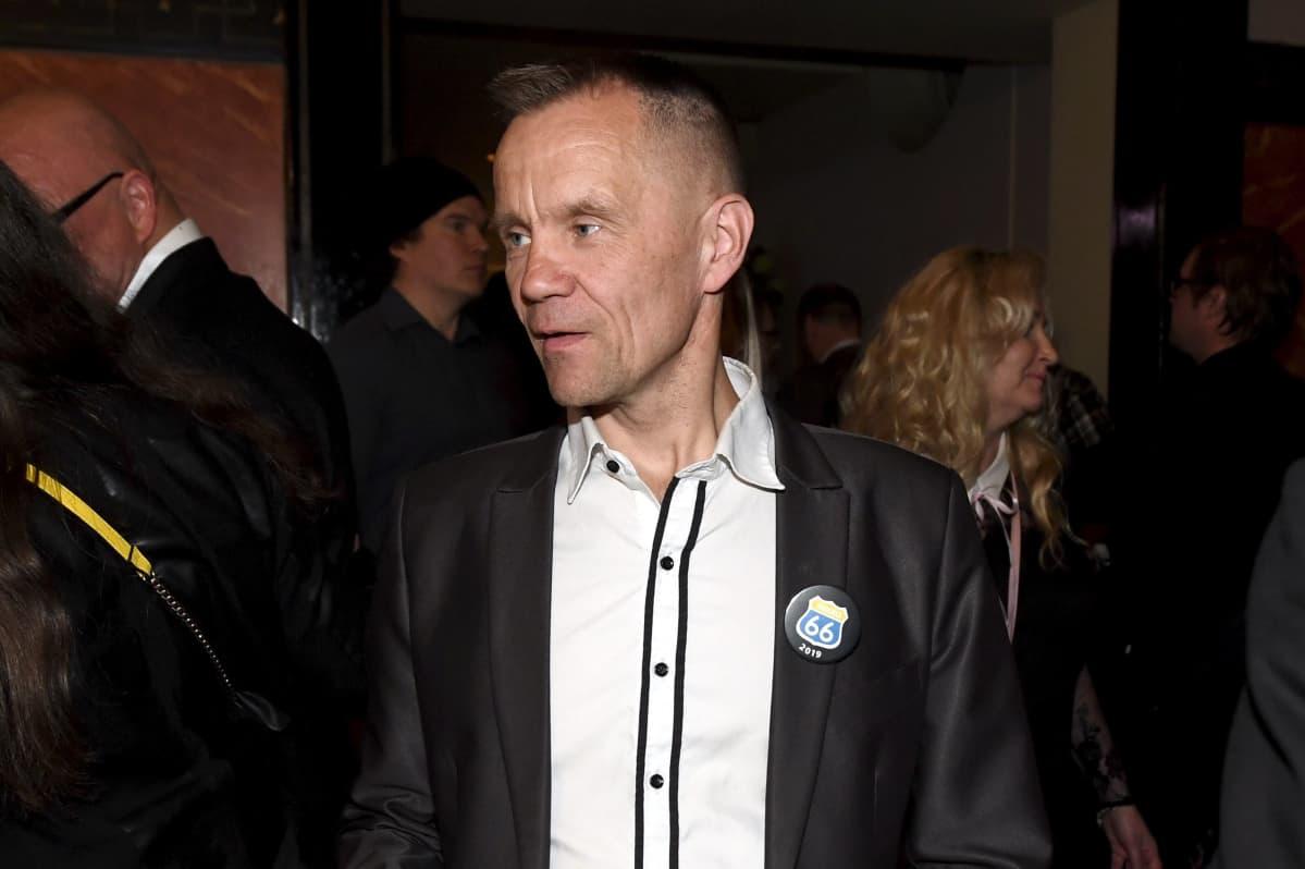 Mika Niikko Perussuomalaisten eduskuntavaalien vaalivalvojaisissa Helsingissä 14. huhtikuuta 2019.