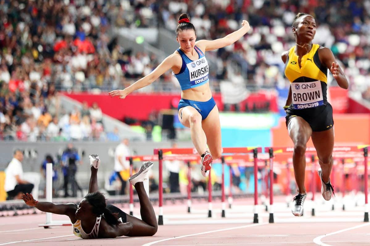 Anne Zagre, Reetta Hurske, Doha 2019 MM-välierä