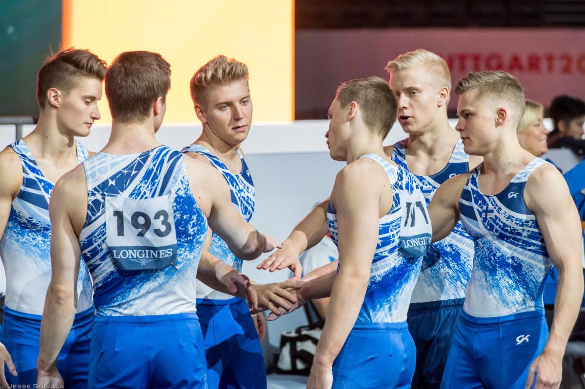 Suomen joukkueet telinevoimistelun EM-kilpailuihin