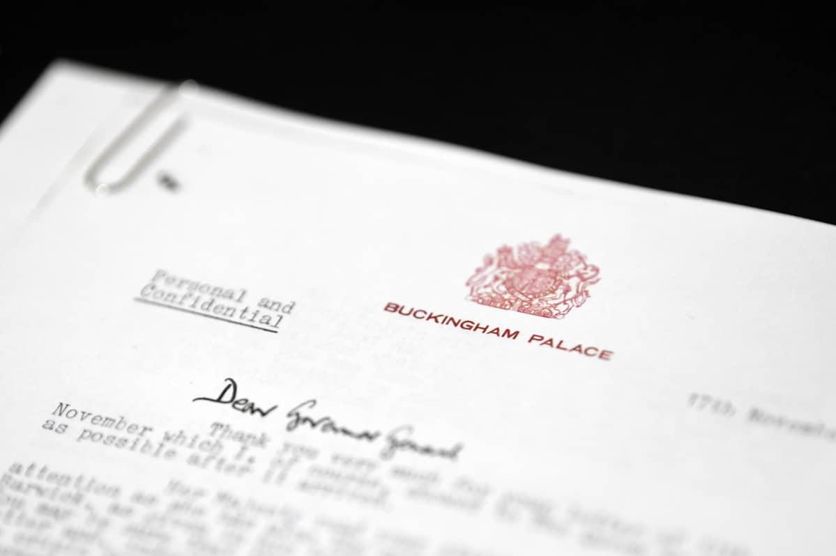 Lähikuva kirjeestä.