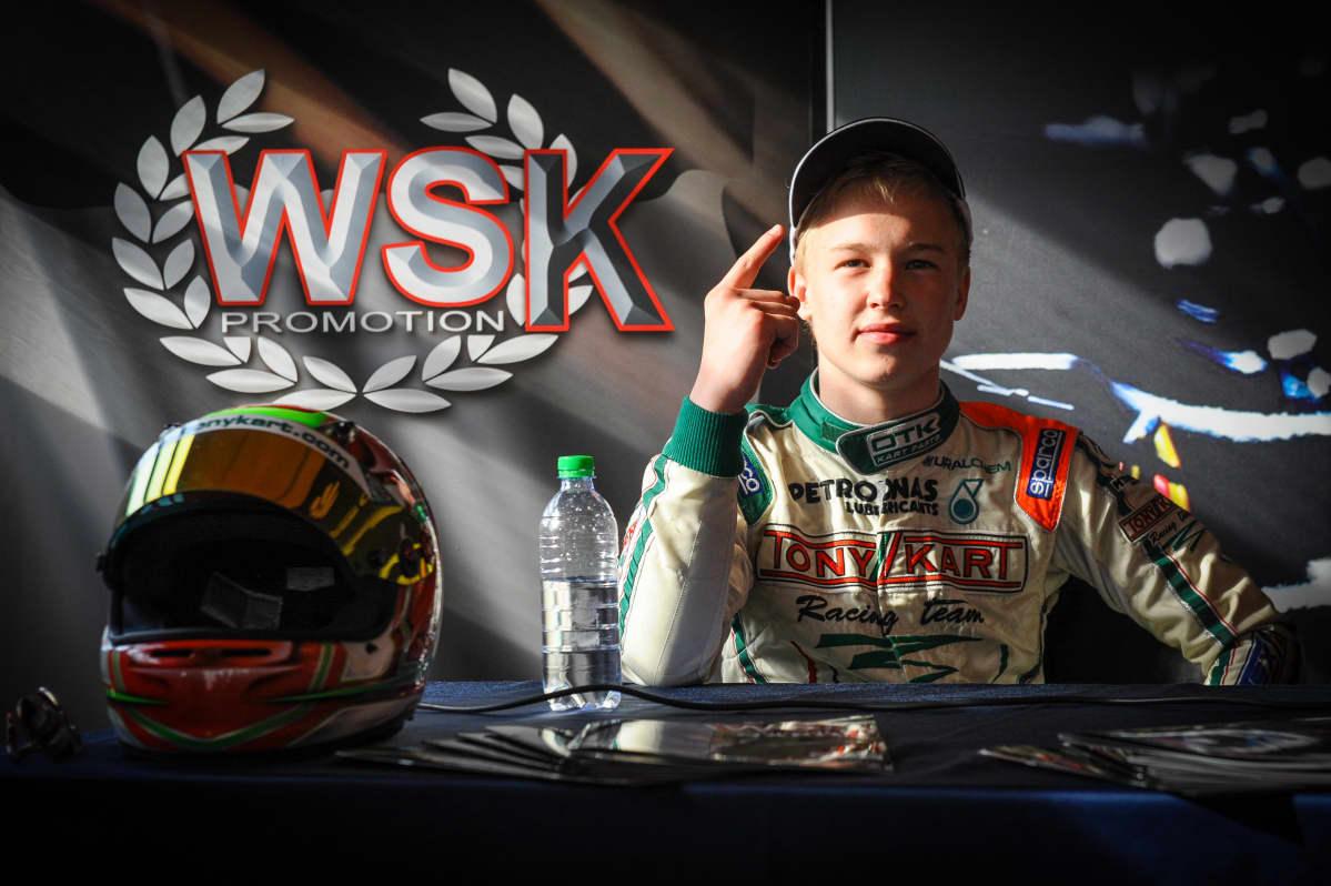 Nikita Mazepin tunnettiin jo kartingvuosina palavasta voitontahdostaan. Kuva vuodelta 2013, kun Mazepin ajoi arvostetussa italialaistallissa Tony Kartissa.