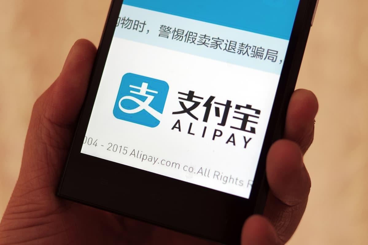 Kiinalainen älypuhelin maksuväline.
