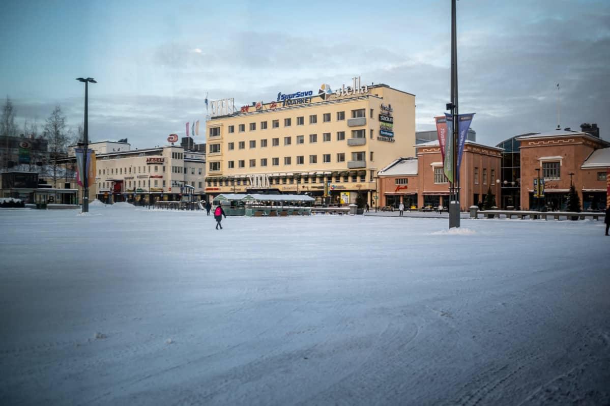 Mikkelin tori talvella