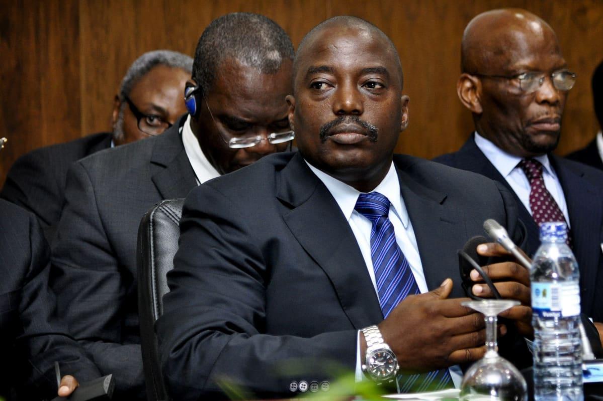 Kongon demokraattisen tasavallan presidentti Joseph Kabila kuvattuna vuonna 2013.