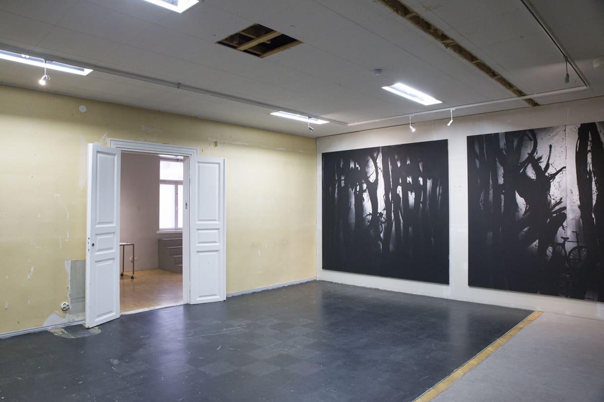 Kuvataiteilija Anne Tompurin teoksia Galleria Lapinlahdessa
