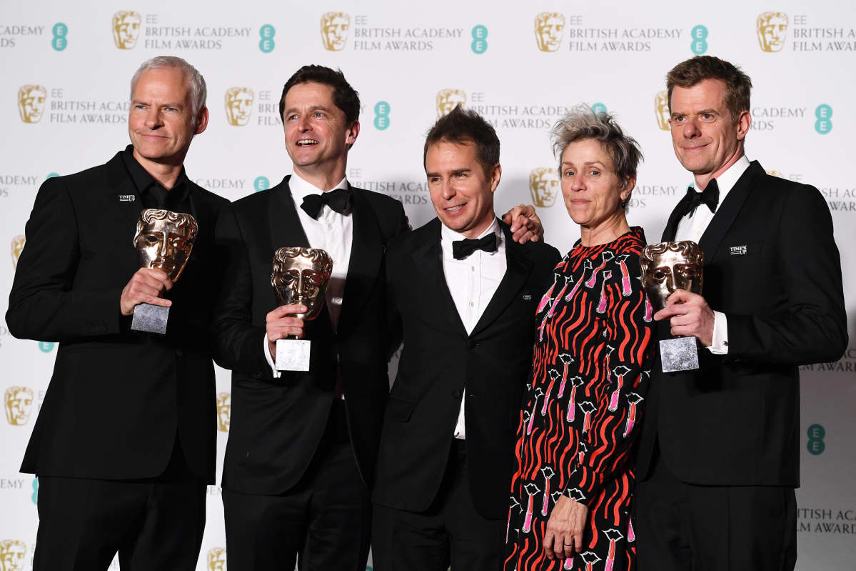 Three Billboards outside Ebbing, Missouri keräsi viisi Bafta-palkintoa.