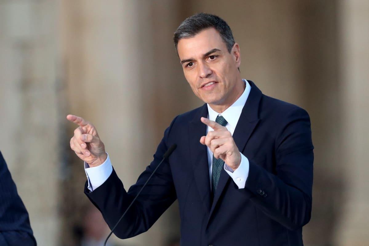 Espanjan pääministeri Pedro Sánchez kesäkuussa 2019.