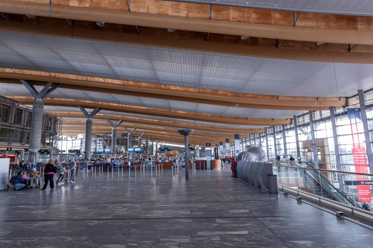 Oslon Gardermoenin lentoasema.