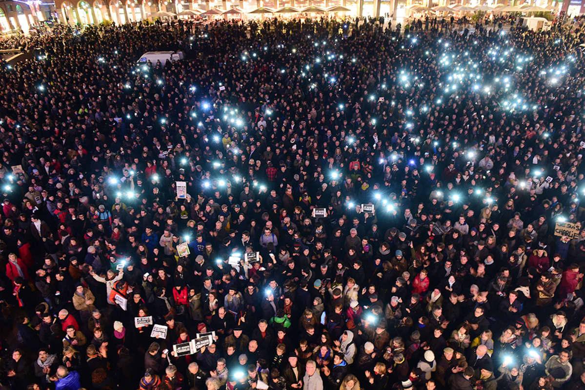 Mielenosoittajia Toulousessa.