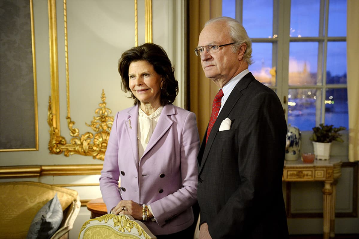 Ruotsin kuningas Kaarle XVI Kustaa ja kuningatar Silvia.