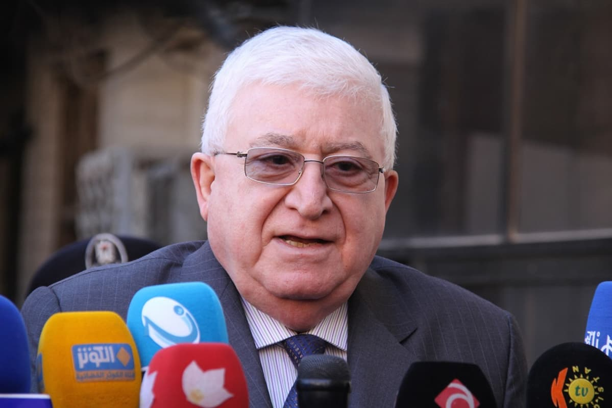 Irakin presidentti Fouad Massoum.