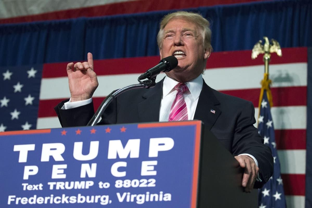 Republikaanien presidenttiehdokas Donald Trump vaalitilaisuudessa elokuussa 2016.