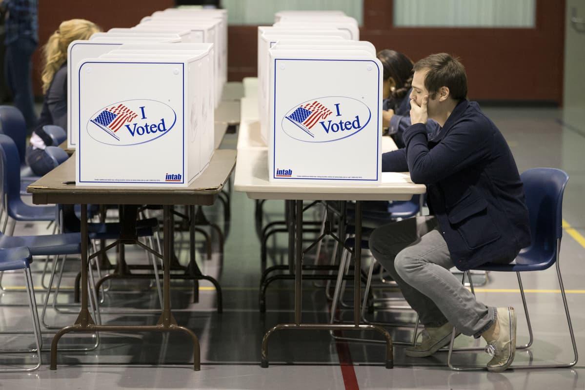 Äänestyspaikka Virginiassa.