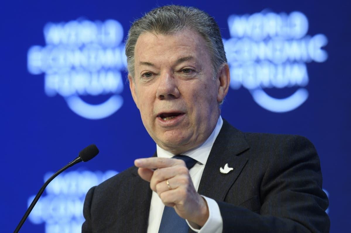Kolumbian presidentti Juan Manuel Santos