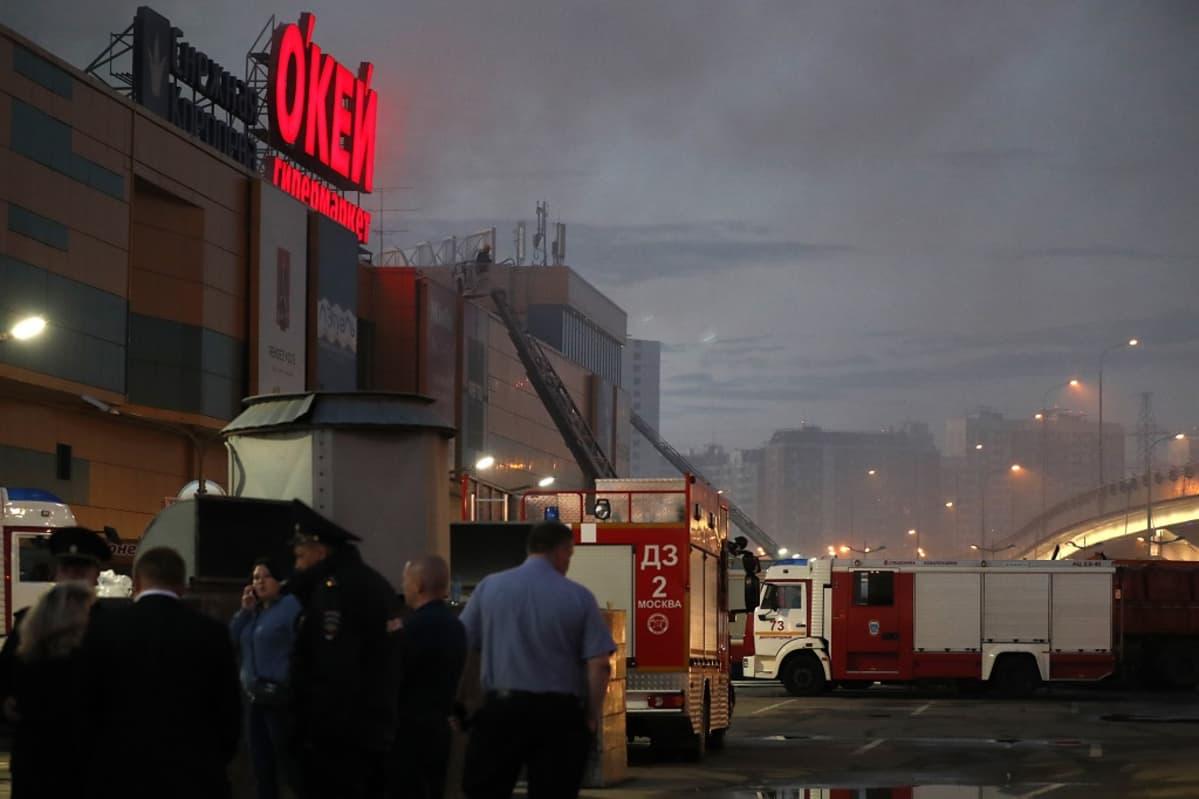RIO kauppakeskuksessa oli tulipalo Mokovassa 10. heinäkuuta 2017.