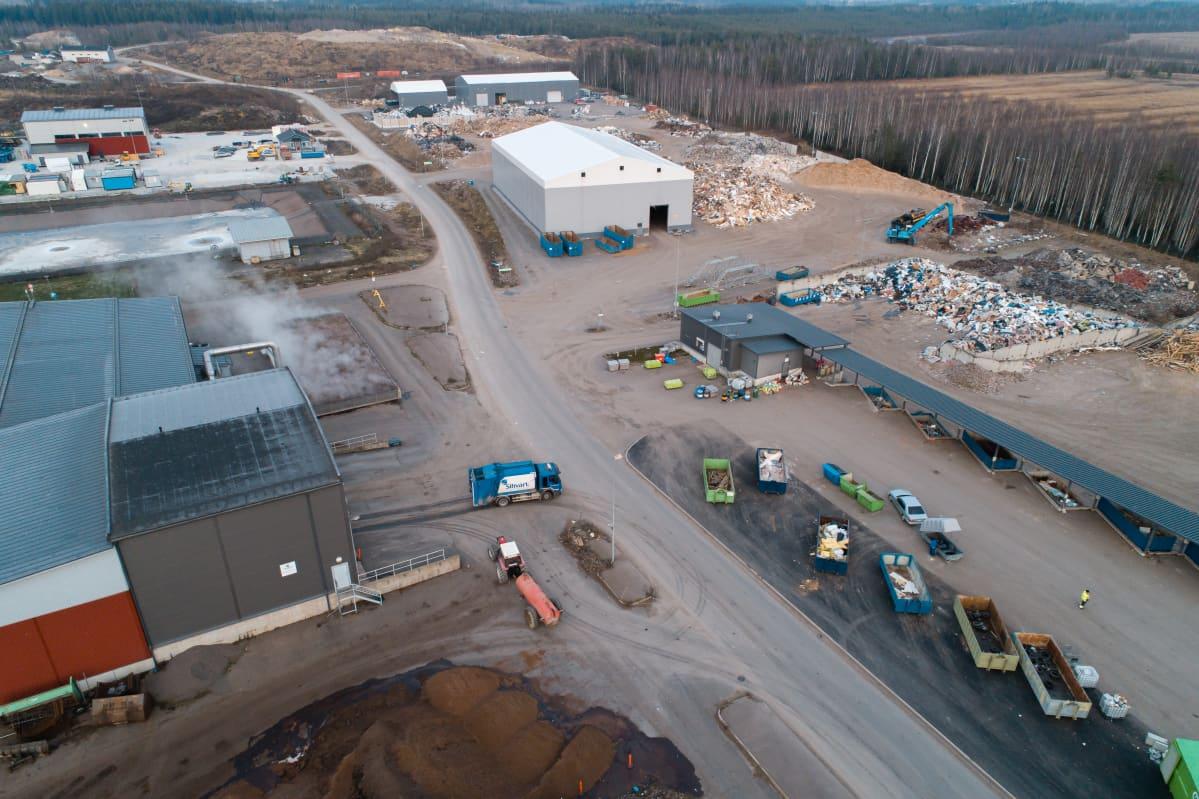 Ilmakuva Kukkuroinmäen aluejätekeskuksesta.