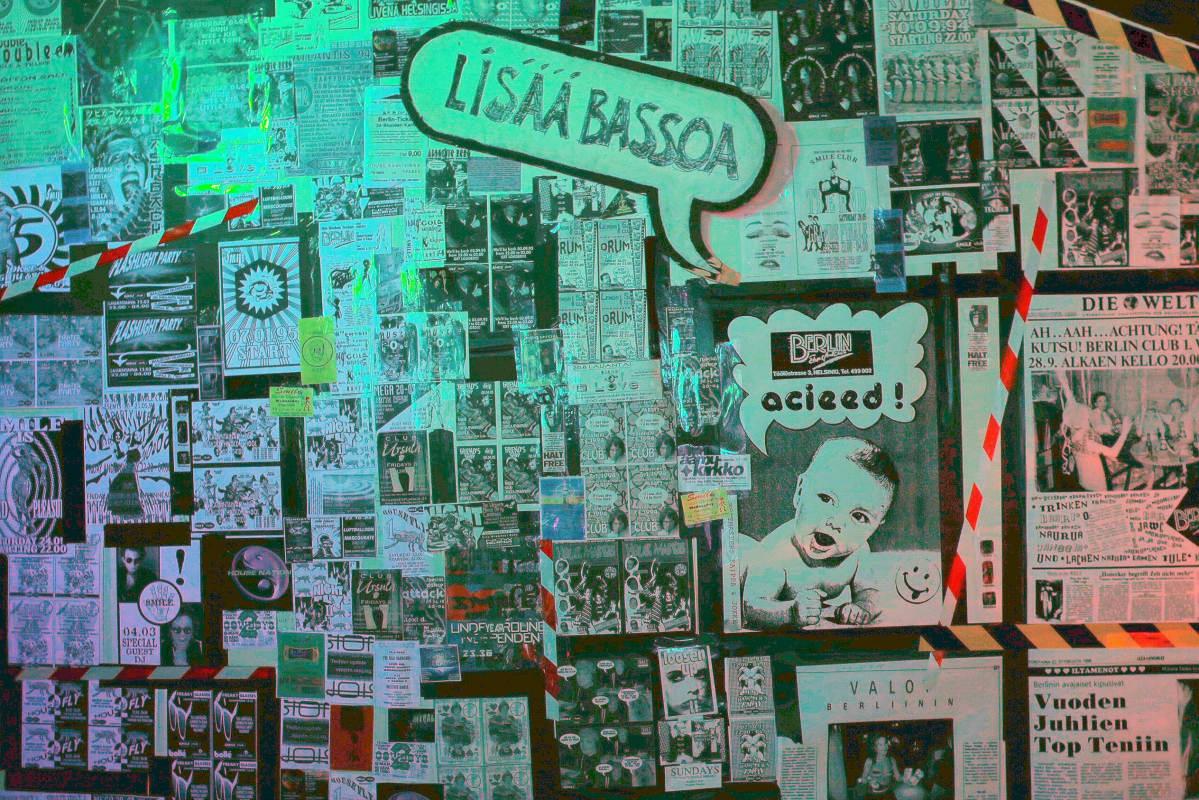 Näyttelyn kuvat, flyerit ja julisteet ovat peräisin yli sadalta klubbaajalta, jotka ovat avanneet arkistonsa näyttelyä varten.