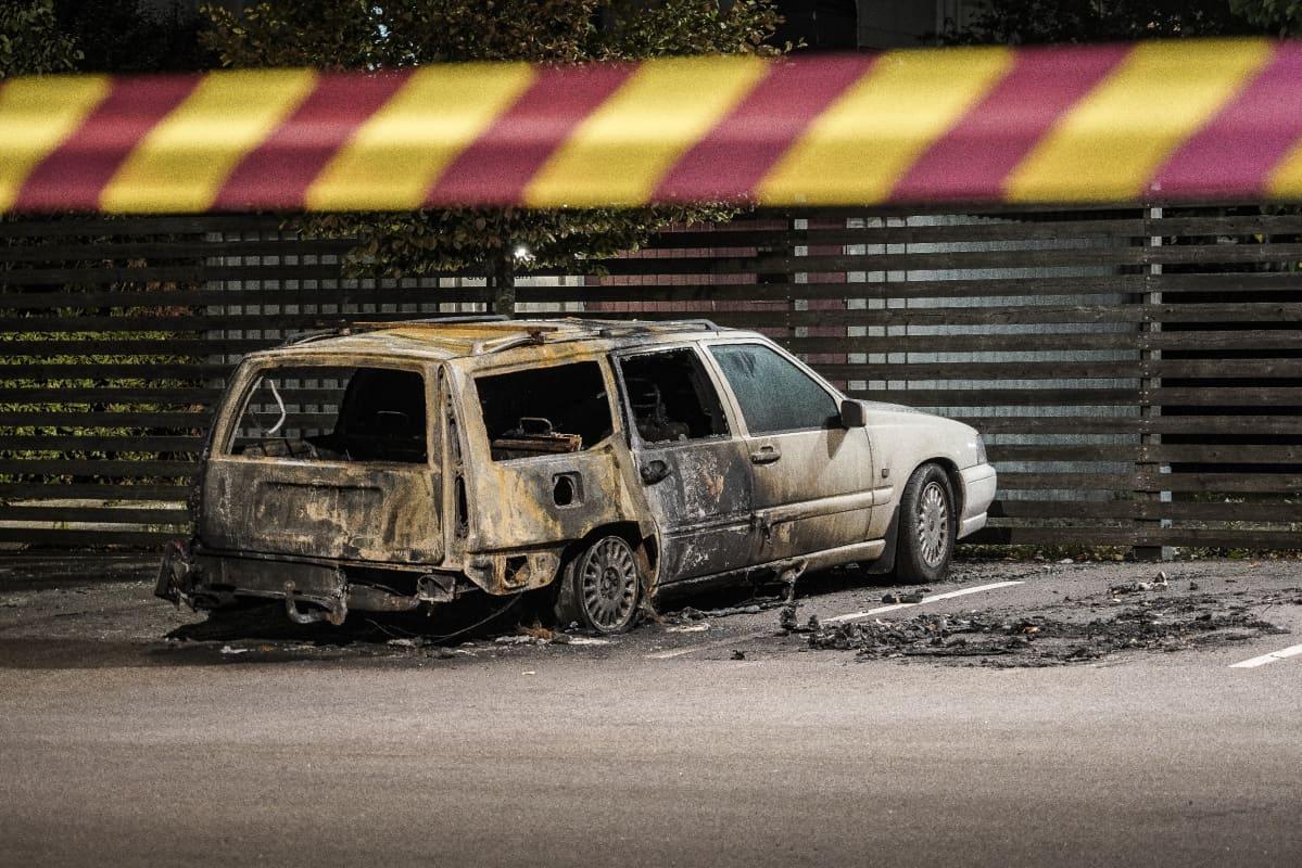 Poltettu auto