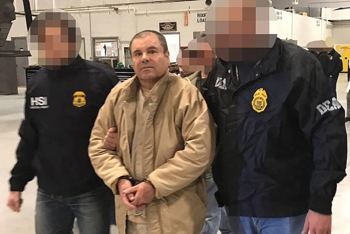 """Meksikon sisäministeriön luovuttama kuva tammikuussa 2017 Joaquin """"El Chapo"""" Guzmanista."""