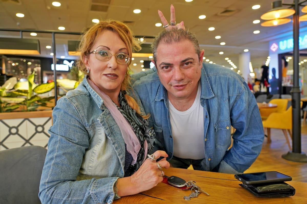 Irina ja Arie Finkelstein ostarilla