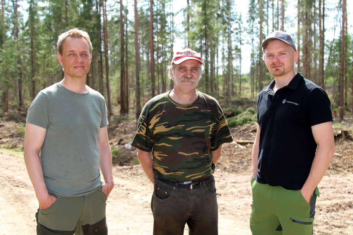 Miehet metsässä