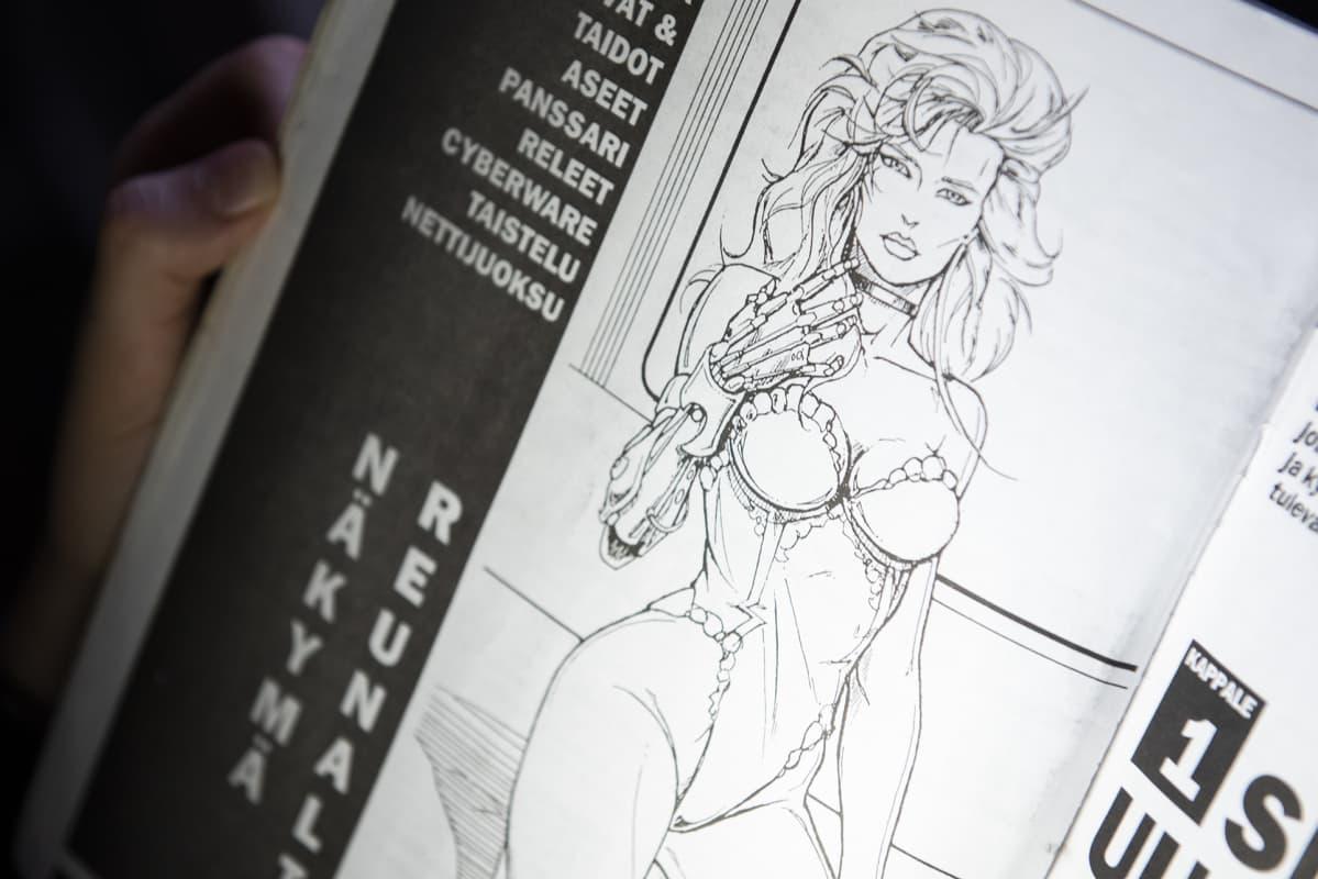 Kuva Cyberpunk 2020 -pelin ohjekirjasta.