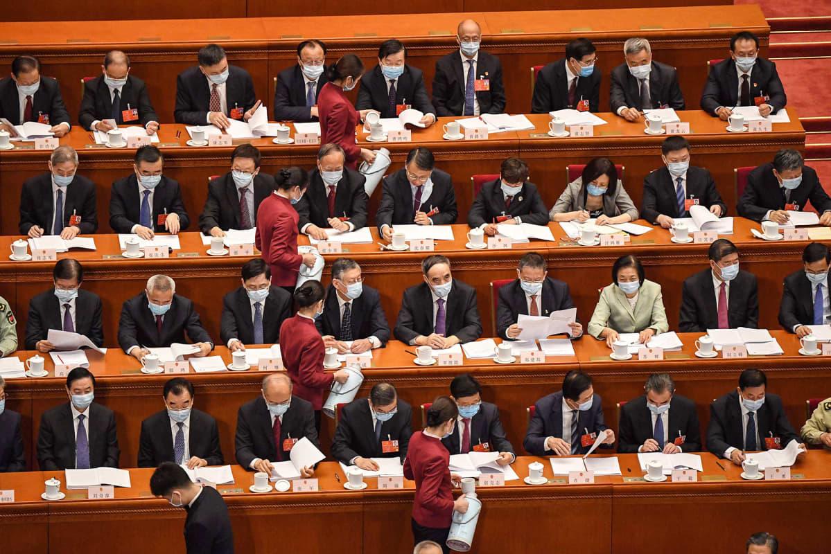 Kiinan kansankongressin istunto.
