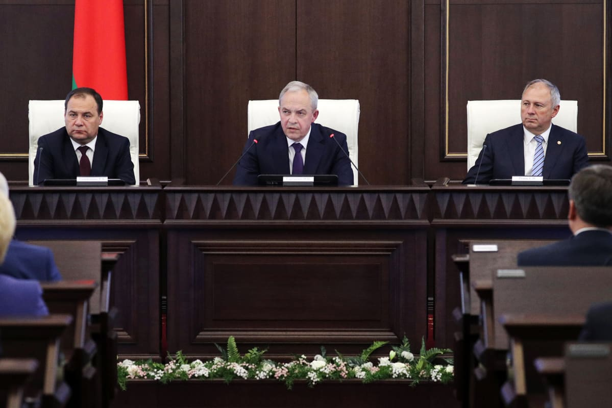 Uudet hallituksen jäsenet esiteltiin Valko-Venäjällä.