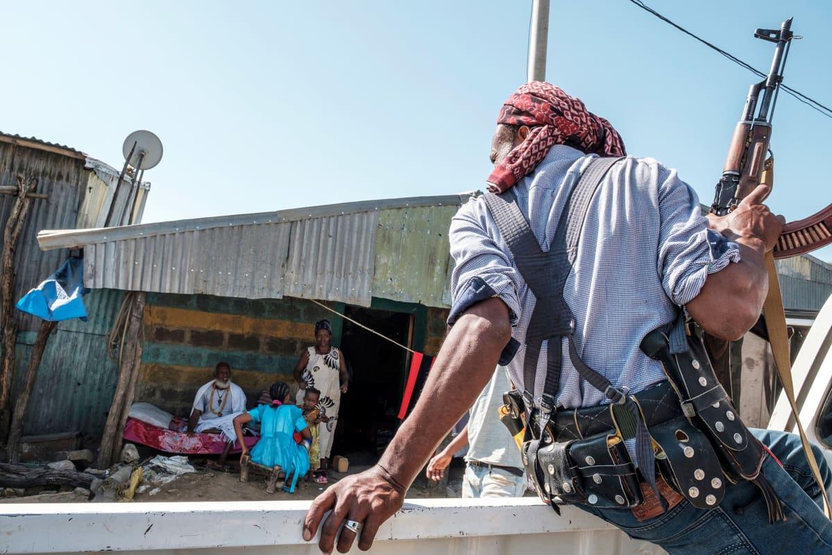 Amharan osavaltion joukkoihin kuuluva sotilas