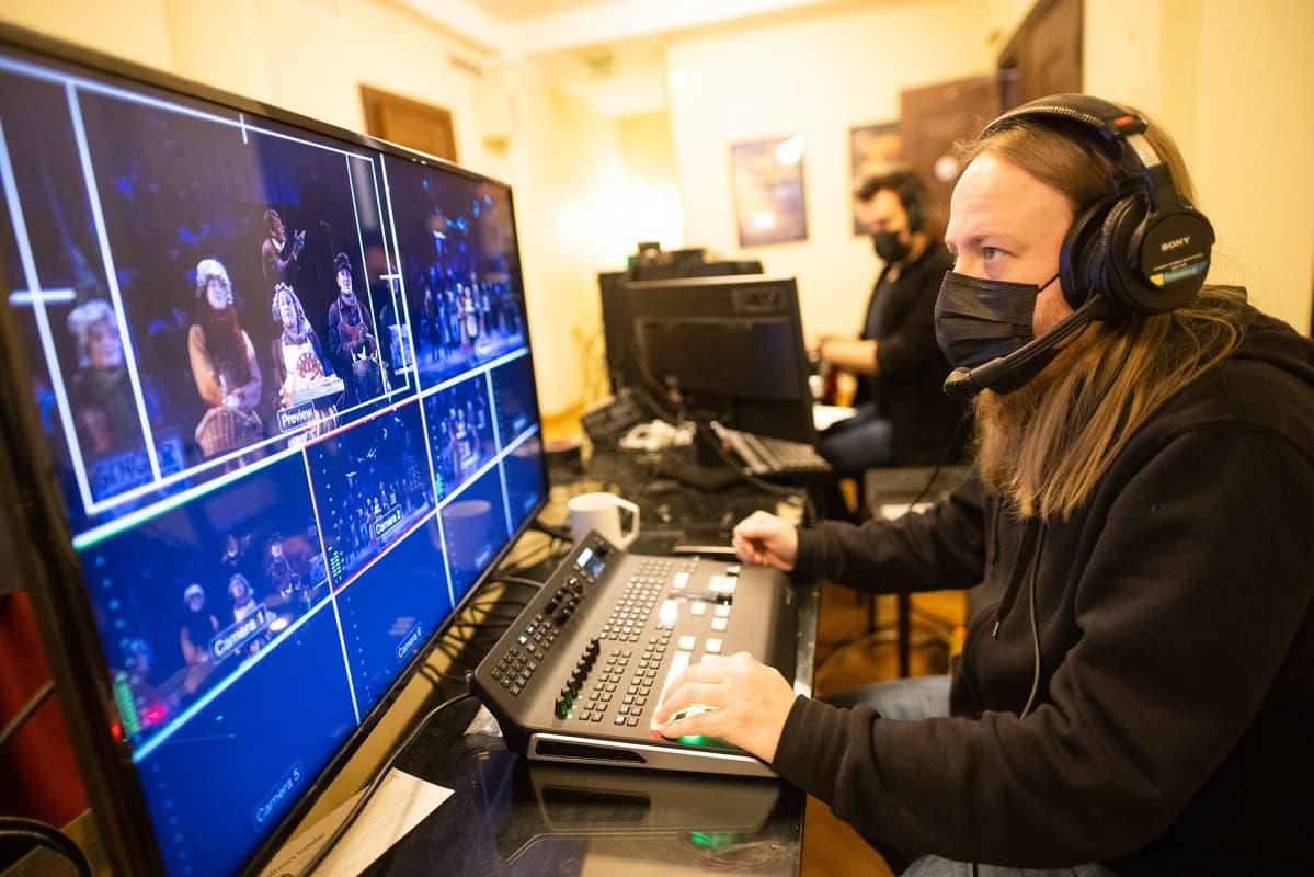 Saiturin joulu -livestreamin tuotantoa.