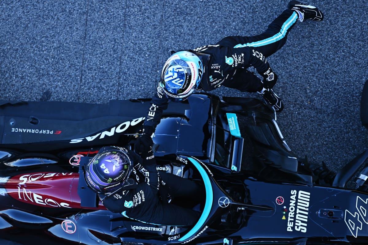 Valtteri Bottas ja Lewis Hamilton