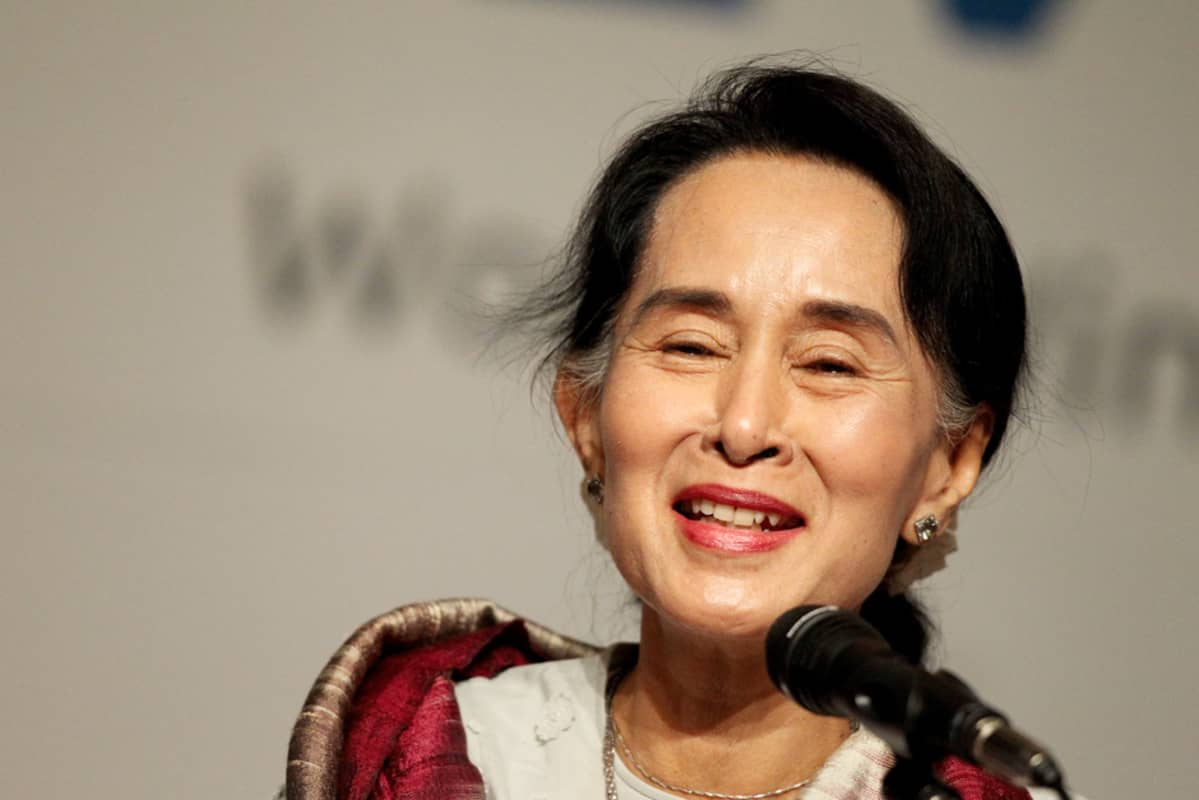 Aung San Suu Kyi tammikuussa 2013.