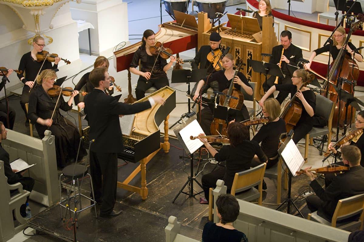 Helsingin Barokkiorkesteri konsertoi.