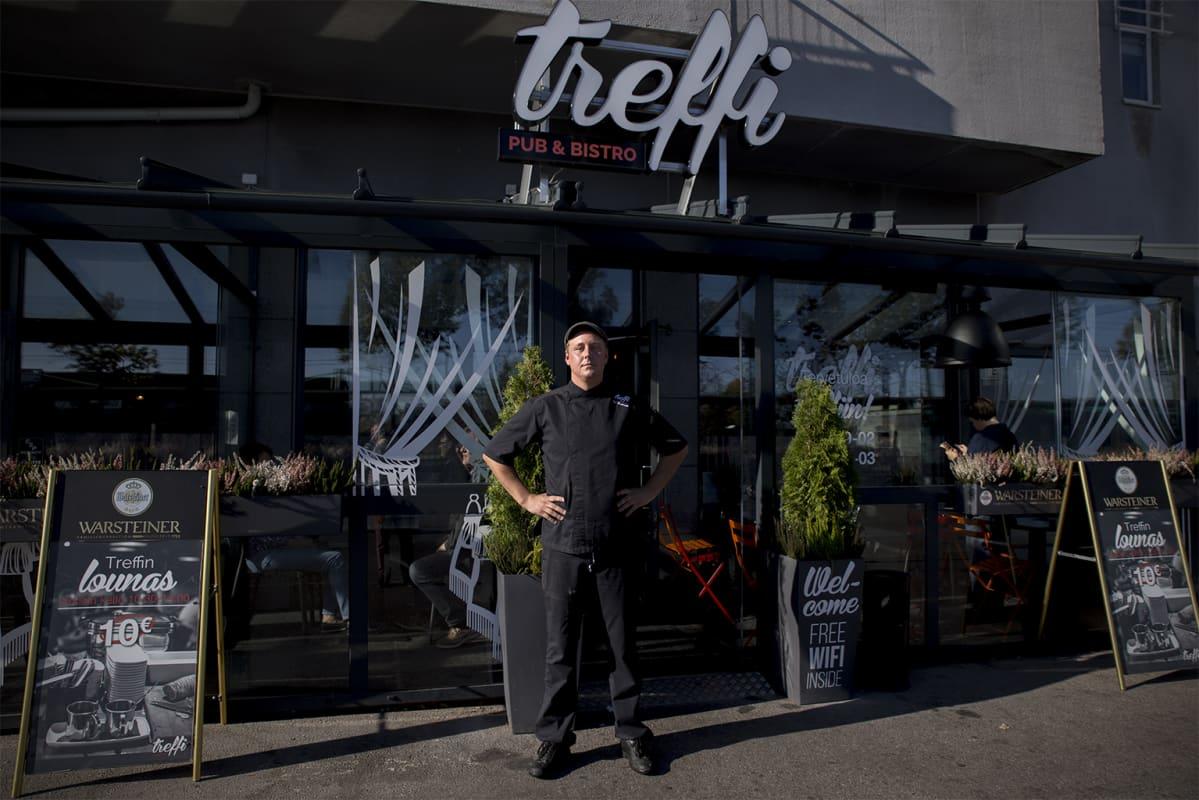 Topi Keskisarja, keittiöpäällikkö Treffi Pub & Bistro