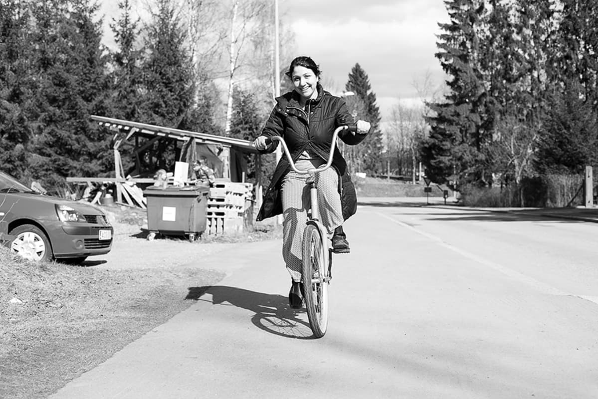 Jameel hyppäsi pyörän selkään ensimmäistä kertaa 17 vuoteen.