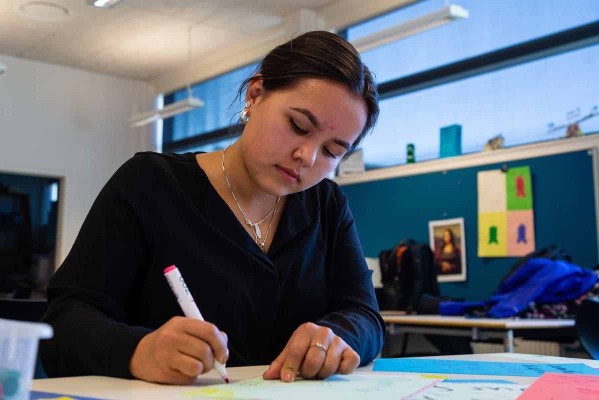 Grönlantilainen ilmastoaktiivi nuori Kiki Godtfredsen Nuukista
