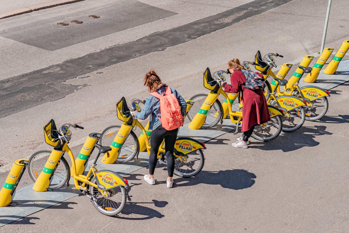 Kaupunkipolkupyöriä otetaan käyttöön.