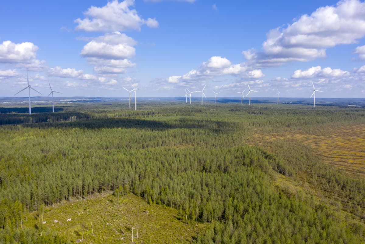 Tuulivoimapuisto Lakiakankaalla Isojoella