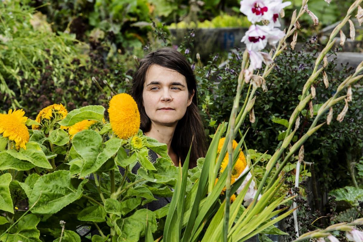 Kuvassa on ilmastoaktivisti Kia Aarnio Helsingissä elokuussa 2020.